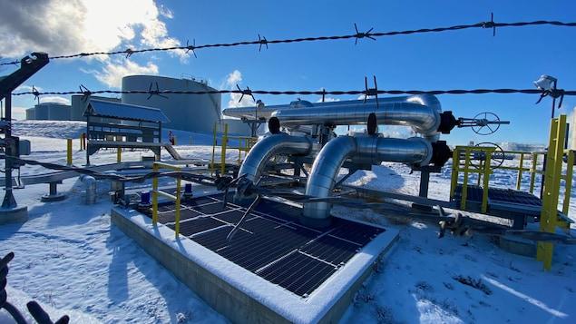 Les installations de la raffinerie de la pétrolière Suncor à Sarnia.