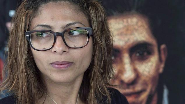 Ensaf Haidar, l'épouse du blogueur Raif Badawi.