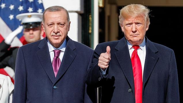 Donald Trump accueille le président Erdogan à la Maison Blanche.