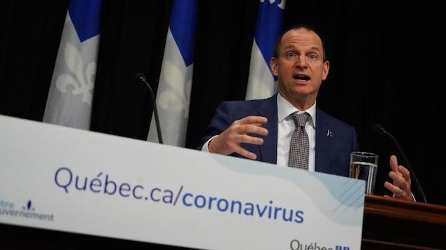 Le ministre des Finances Eric Girard.