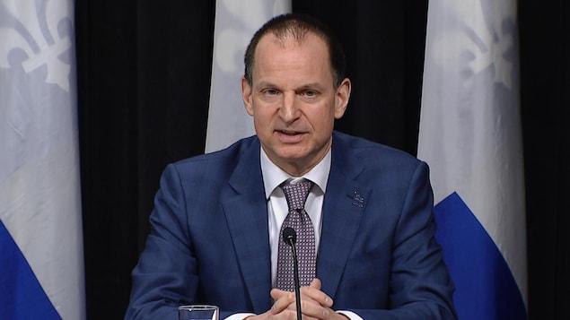 Le ministre québécois des Finances, Eric Girard.