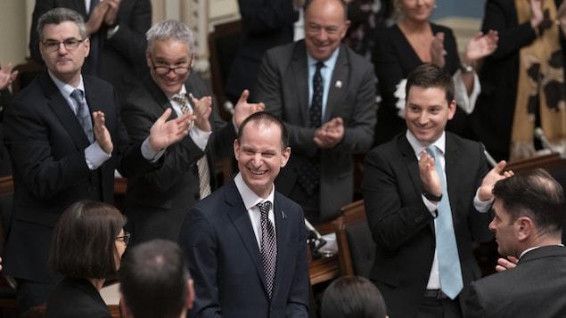 Le ministre des Finances du Québec, Eric Girard, a déposé jeudi à l'Assemblée nationale le premier budget de la jeune histoire de la CAQ.