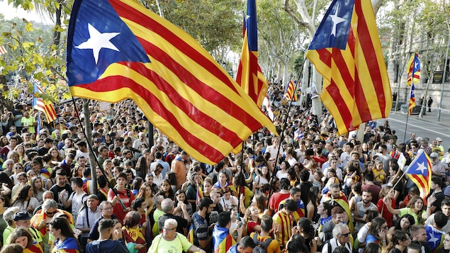 Des manifestants indépendantistes à Barcelone