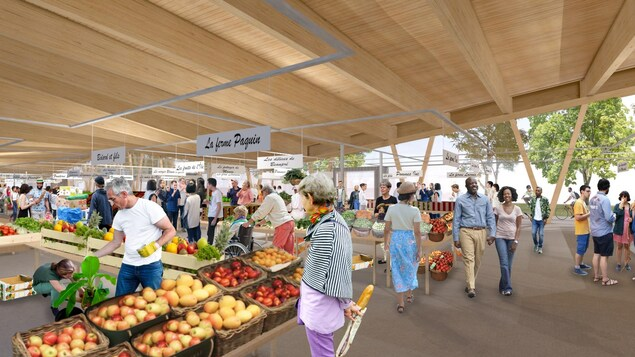 Esquisse du nouveau marché public de Sainte-Foy