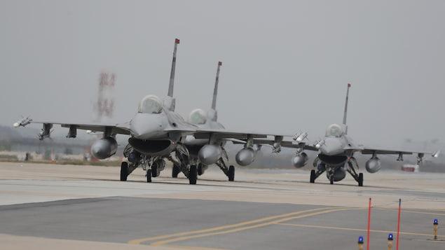 Des chasseurs américains F-16