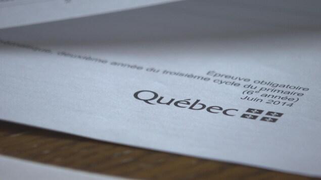 Épreuve de mathématique du ministère de l'Éducation, du Loisir et du Sport de 2014 pour les élèves de 6e année.