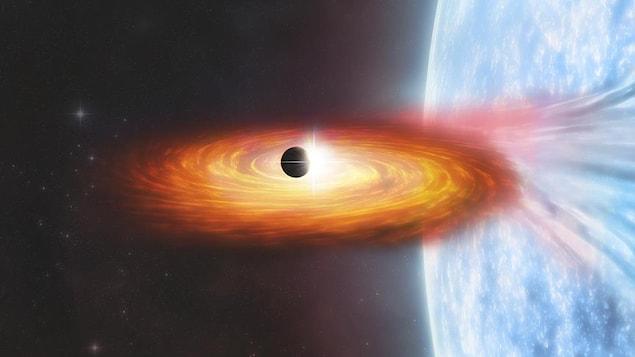 Illustration d'une exoplanète.
