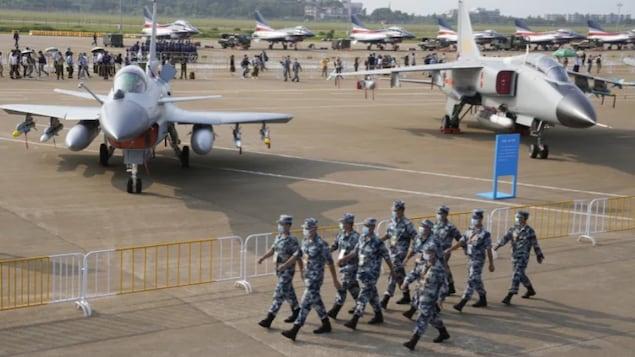 2021 年 9 月 29 日,中国广东省珠海市举行第 13 届中国国际航空航天展览会。