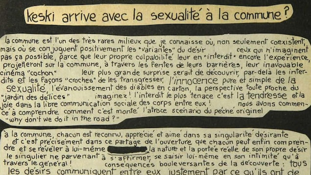 Un texte sur la sexualité dans la commune.
