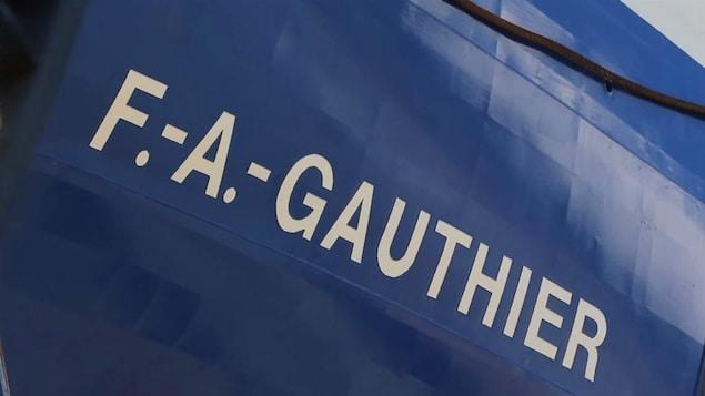 Le F.-A.-Gauthier a quitté l'Italie, la semaine dernière.  Il devrait arriver au Québec dans un peu plus d'une dizaine de jours.