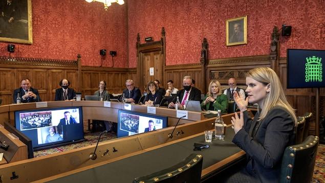 Frances Haugen face aux députés britanniques.