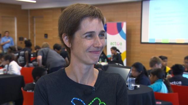 Joëlle Pineault, directrice du laboratoire de recherche en intelligence artificielle de Facebook à Montréal.
