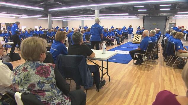 Des membres du Réseau FADOQ de partout au Québec participent à différentes compétitions lors des Jeux FADOQ 2019.