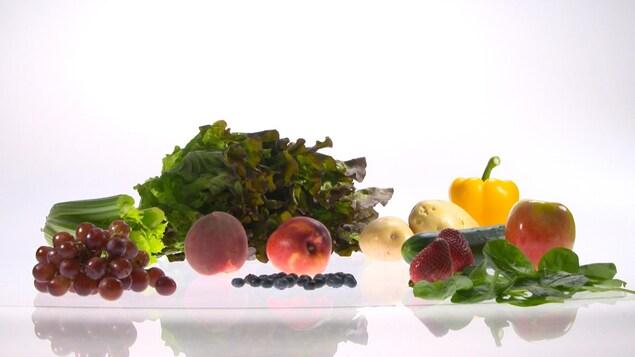 Des fruits et des légumes variés.