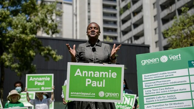 Green Party Leader Annamie Paul released her party's election platform today but did not hold a press conference or take questions from the media to mark the milestone.