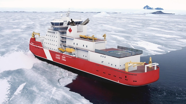 Dessin d'un navire dans les glaces