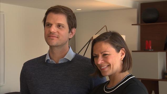 Les représentants de Netflix Felipe Tewes et Dominique Bazay