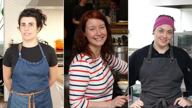 De gauche à droite, les chefs Chloé Berlanga, Marysol Foucault et Dominique Dufour