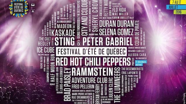 L'affiche du Festival d'été de Québec 2016