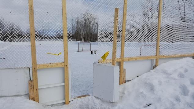 Une patinoire fermée à Saguenay