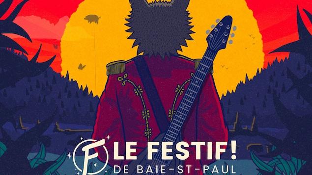 L'affiche du festival avec la liste des artistes invités.