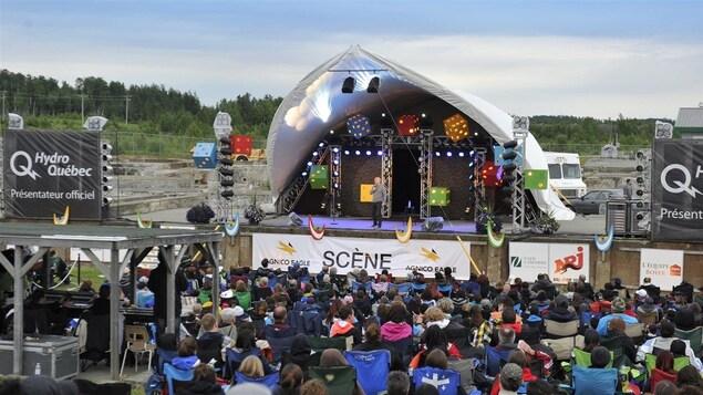 Scène principale du festival d'humour de l'Abitibi-Témiscamingue