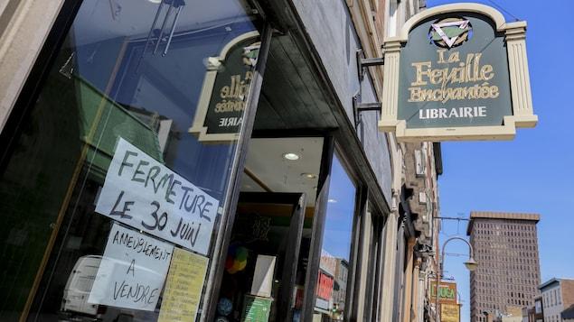 La librairie La Feuille Enchantée ferme ses portes.