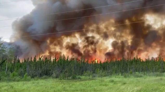 Un feu de forêt près de Buffalo Narrows.