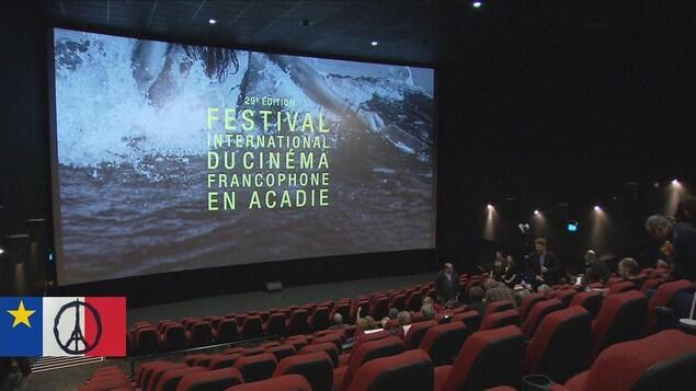 Une salle de cinéma durant le Festival international du cinéma francophone en Acadie