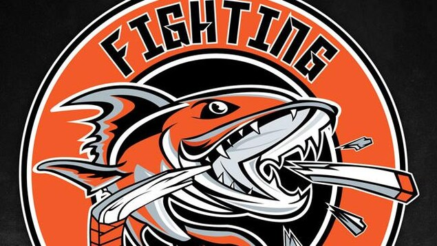 Le logo des Fighting Walleye.
