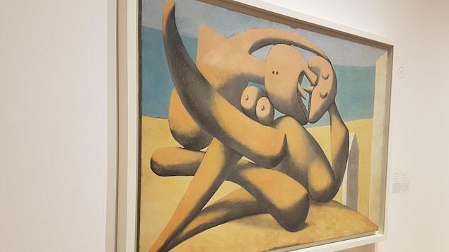 Un tableau de Picasso intitulé Figures au bord de la mer datant de 1931.