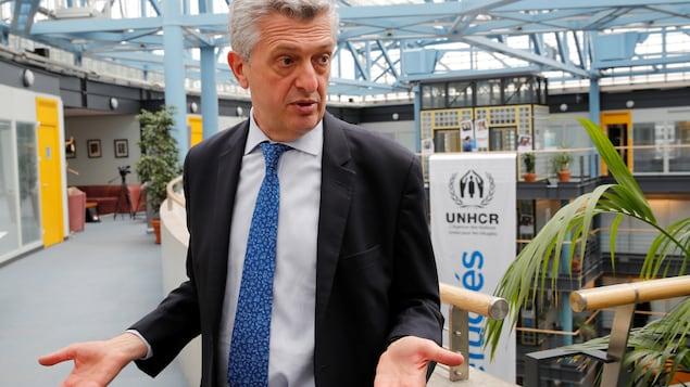 Filippo Grandi accorde une entrevue à l'agence Reuters.