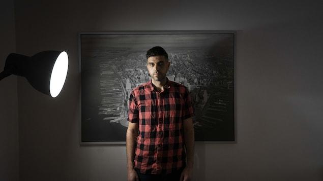 Firas Bouzgarrou dans son logement.