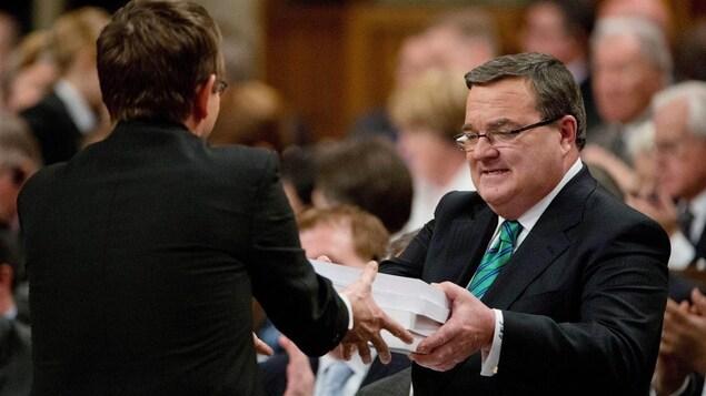 Jim Flaherty à la Chambre des communes.