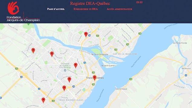 Encore peu de défibrillateurs sont enregistrés à Trois-Rivières.