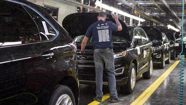 L'usine d'assemblage de voitures Ford à Oakville, en Ontario.