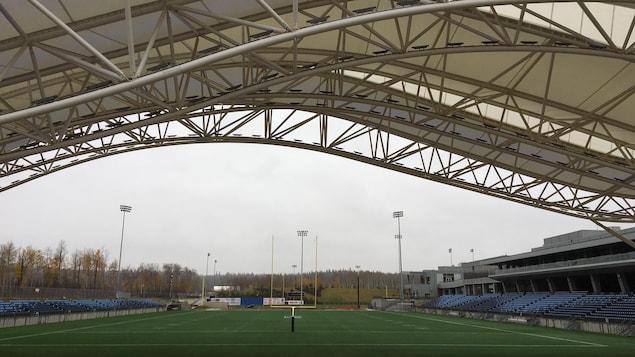 Le stade de football du centre sportif Shell de Fort McMurray