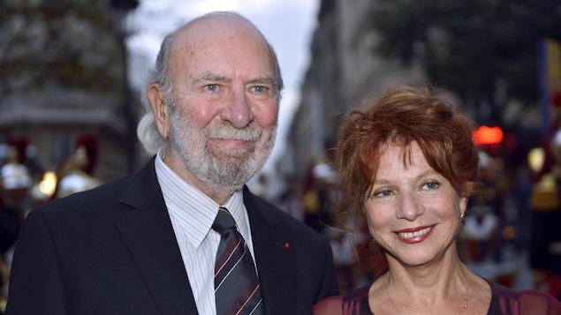 L'acteur Jean-Pierre Marielle et son épouse Agathe Natanson à Paris en 2013.