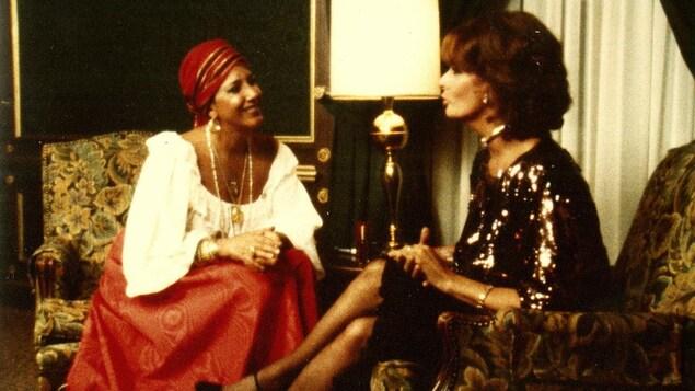 L'actrice italienne Sophia Loren en entrevue avec Francine Grimaldi.