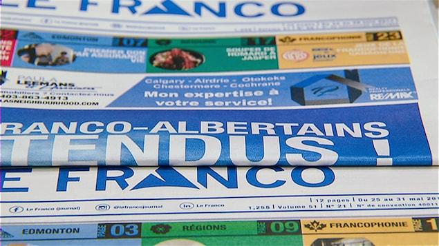 Une du journal Le Franco.