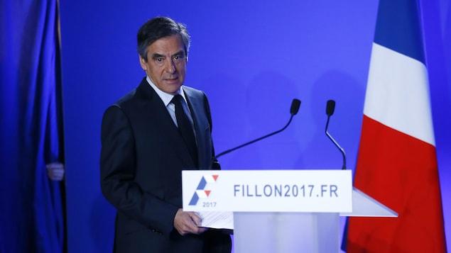 Le candidat du parti Les Républicains, François Fillon