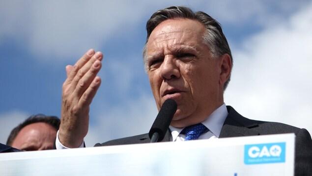 François Legault, chef de la Coalition avenir Québec.