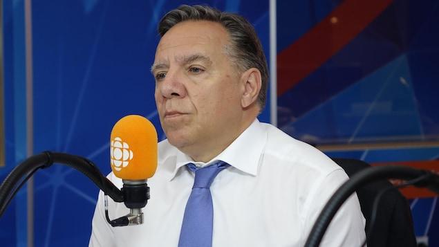 François Legault en entrevue.