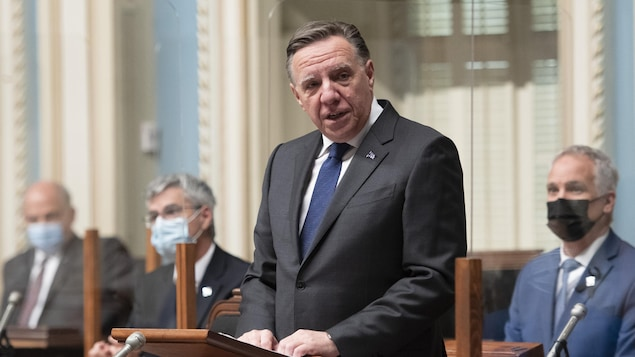 François Legault à l'Assemblée nationale.