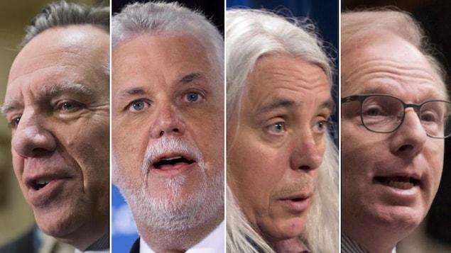 Montage montrant des plans rapprochés des quatre chefs.