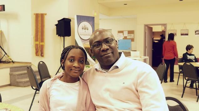 Amadou et sa fille Mariam Touré partcipent au Francothon.