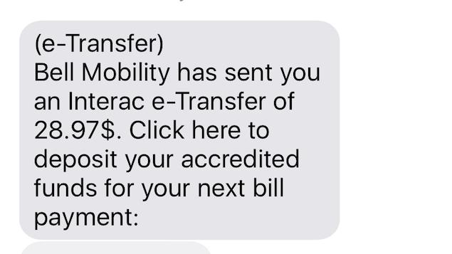 Un texto de fraude bancaire