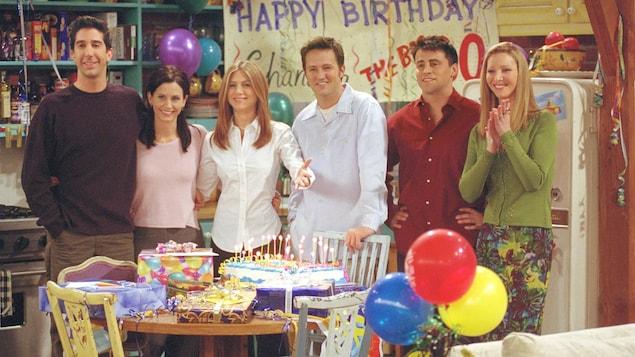 Les acteurs de «Friends» dans un épisode de la série, en 2001.