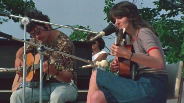 Photo d'archives d'une musicienne dans les années 1970.