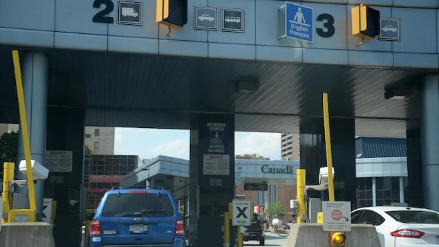 L'une des frontières entre le Canada et les États-Unis.